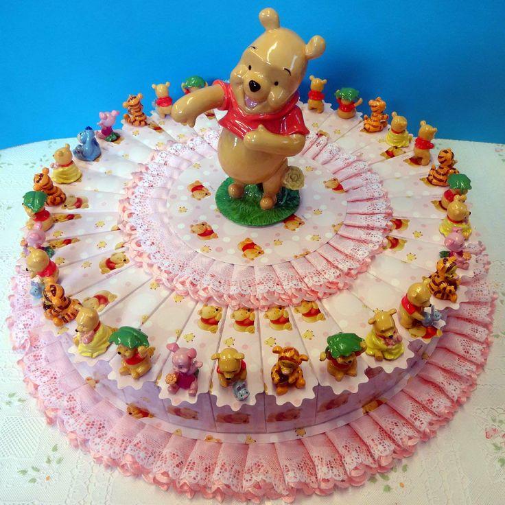 Italian Favor Cake with Disney Winnie the Pooh, 32 boxes http://www.tortebomboniere.com/bomboniere/walt-disney-favor-cake.html