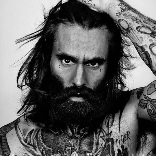 616 best images about beards on pinterest red beard for Bearded tattooed man