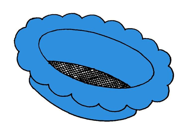 Blauwe zeef van kleurenspel