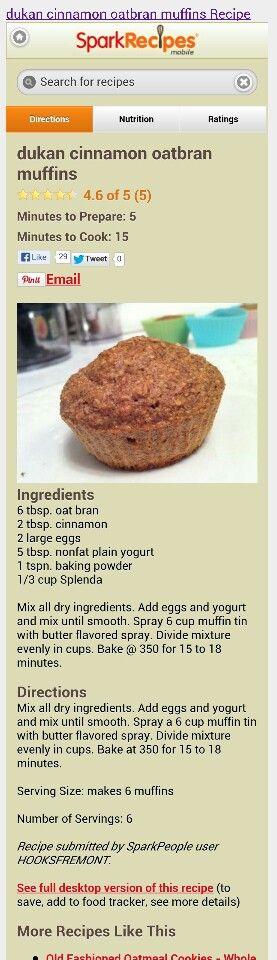 Dukan oat bran muffin