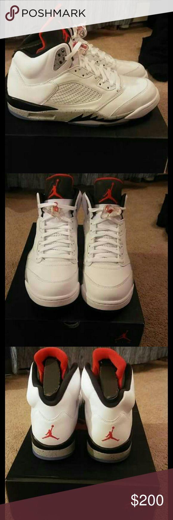 "Jordan Retro 5 Jordan Retro 5 ""Cements""  Size 12 Mens  Condition 10/10 dead stock 100% Authentic  100% Buyers Protection Gaurentee Jordan Shoes Sneakers"