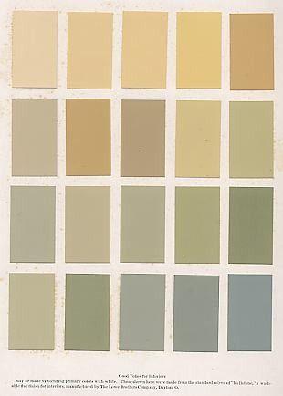 Upper row = oak cabinets bottom row = a blue choice second from bottom = a green choice.