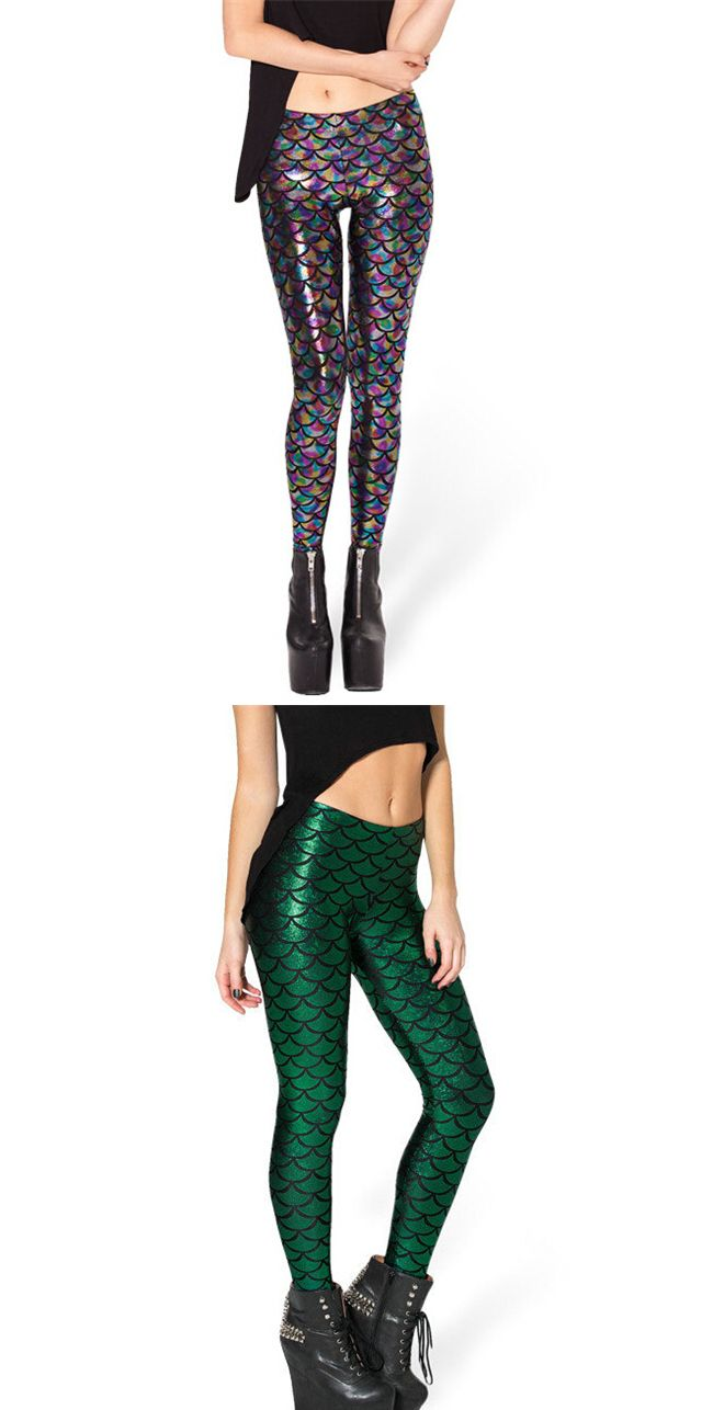 Summer and stylish women's leggings is with a picture of a mermaid's tail.  Bright and attract people's attention, shimmering in the sun. In them you will attract attention. Price $6.99 #Fashin #amazing