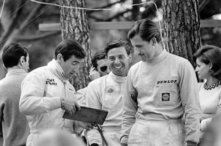Jackie Stewart, Jim Clark and Graham Hill at Monaco, 1966