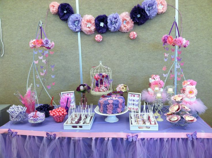Pink And Purple Butterfly Baby Shower