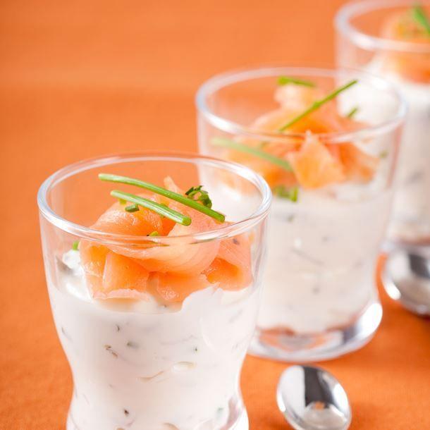 Recette Verrines au saumon rapides