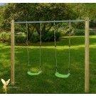 Schaukelgestell Holzschaukel für Kleinkinder mit Schaukelsitz
