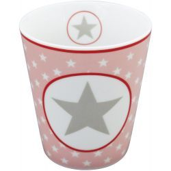 Krasilnikoff Happy Mug - Pink Big Star