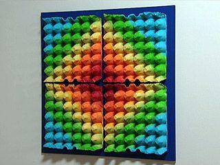 Manualidades y Artesanías | Mural con maple de huevo | Utilisima.com