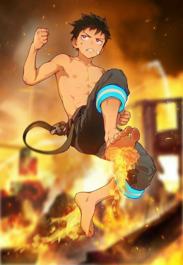 pin by ev diaz on anime shinra kusakabe anime anime guys