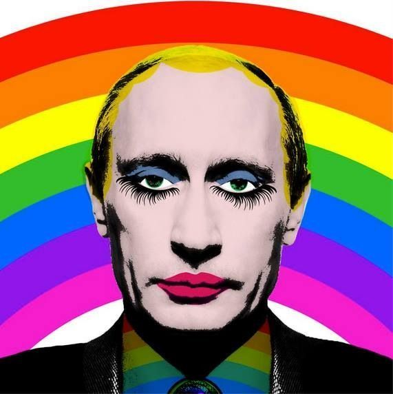 This image of Russian leader and purported Donald Trump kingmaker Vladimir Putin as a gay clown is now illegal in Russia. Whatever you do, do not share this far and wide so that everyone sees it.