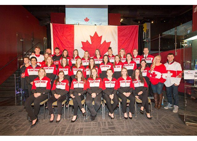 2014 Olympics Canadian Womens Hockey Team  AND GOLD WINNERS... way to go ladies.  We are all very proud of you.