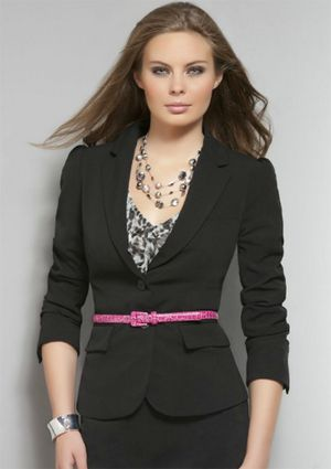 This picture was on a website for job interview wear. What do you think?