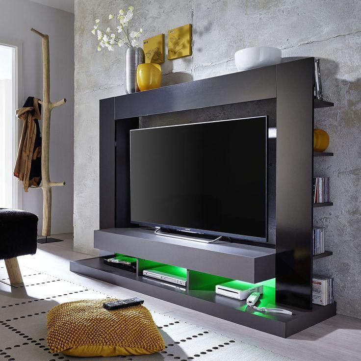 TV-Wand Yoder II - Hochglanz Schwarz / Schwarz, Trendteam Jetzt bestellen unter: https://moebel.ladendirekt.de/wohnzimmer/tv-hifi-moebel/tv-waende/?uid=249ac0b3-965f-50f8-89fd-cffb3d51663b&utm_source=pinterest&utm_medium=pin&utm_campaign=boards #trendteam #möbel #wohnwände #tvwaende #wohnzimmer #tvhifimoebel