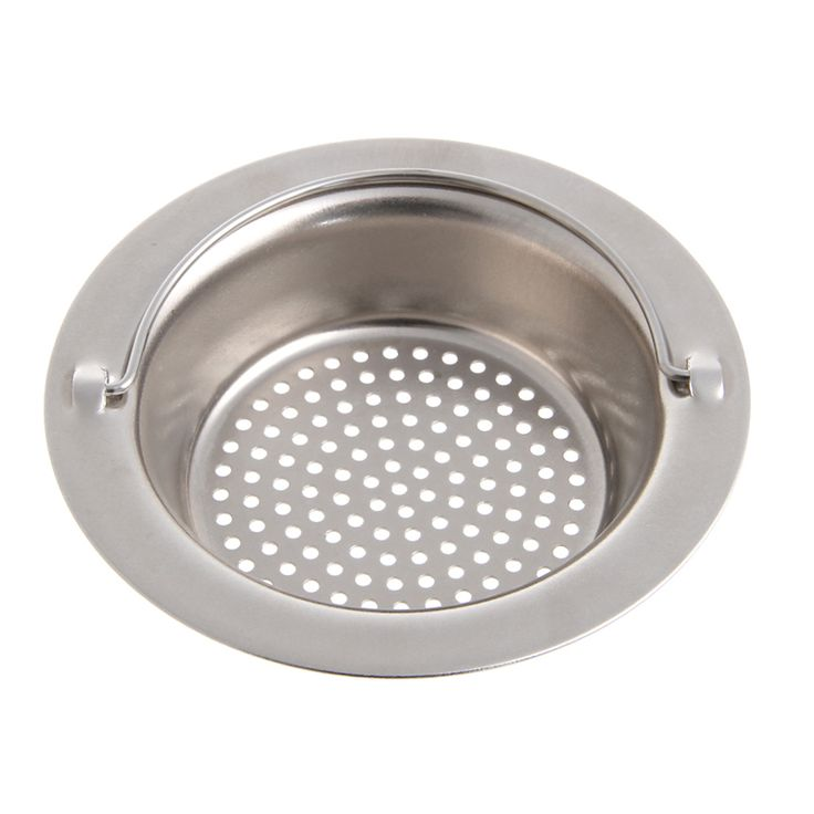 1 pcs Uesful Stainless Steel Round Floor Drain Kitchen Sink Filter Sewer Drain Hair Colanders & Strainers Filter Bathroom Sink