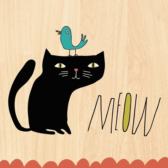 Kellie Bloxsom-Rys - Art and Illustration: Black Cats were hipsters before hipsters were cool: Cat Art, Art Photography, Black Cats, Cat Covers, Arti Felin, Chat Cat, Cartoon Illustrations, Cat Prints, Blackcat
