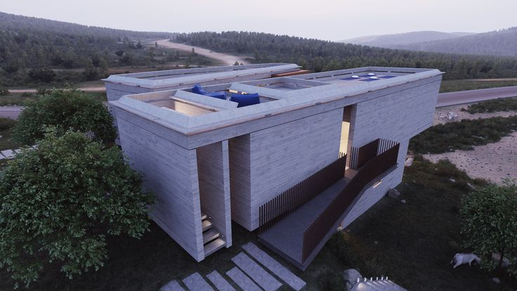 modern concrete yoga house in israel