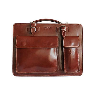 Ladies Brown Italian Leather Briefcase/Work Bag(Medium Size) - RRP £74.99, our price - £59.99