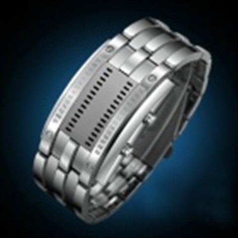 SKMEI 0926 LED 30 Meter Waterproof Zinc Alloy Digital LED Watches for Men - Silver (2 x CR2016)