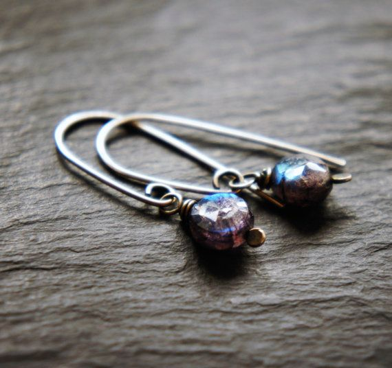 Labradorite and Sterling Silver Earrings by DakiniUK on Etsy