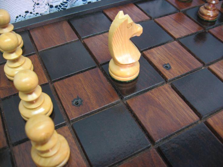 Black Walnut Chess Set From Reclaimed 1800u0027s Barn Beams