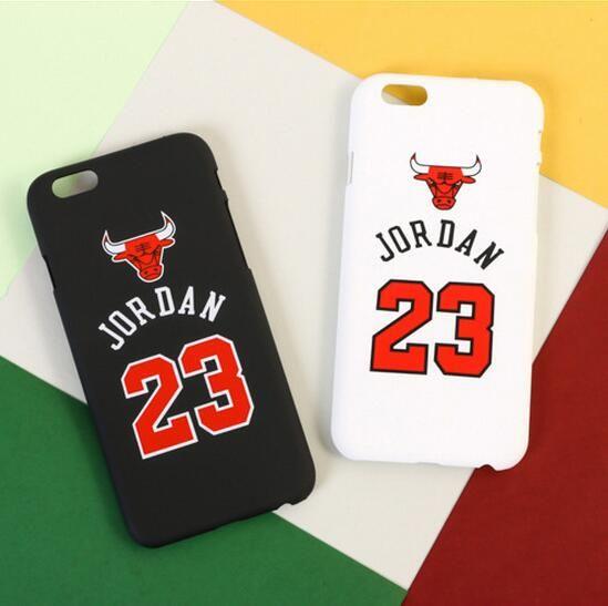Hard Plastic Letter Number Jordan NBA Case for iphone 5 5S SE 6 6S Plus Antisweat Matte Back Cover Fashion Basketball Phone Case