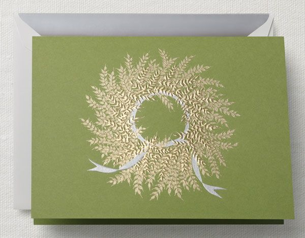 Beautiful Engraved Wreath From Crane