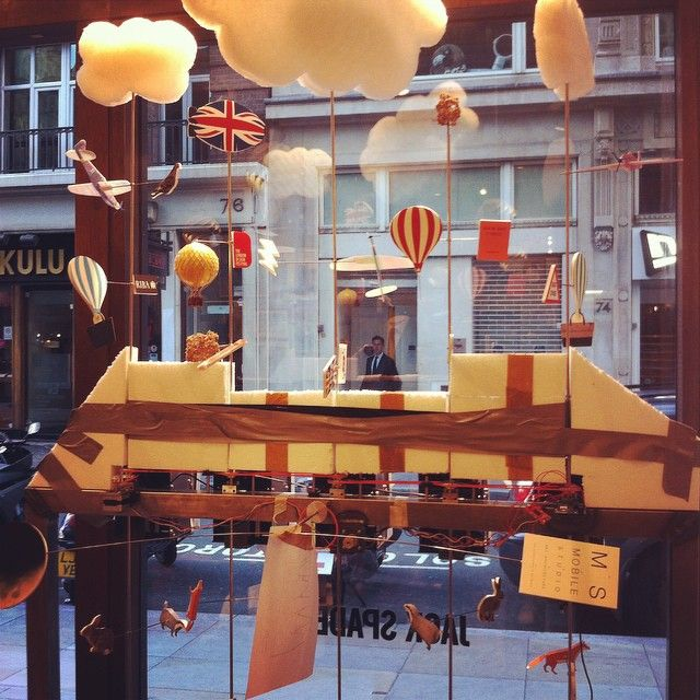 @jackspadeny #riba window display in the making, go see this week, it looks amazing already - @hettyroseshoes