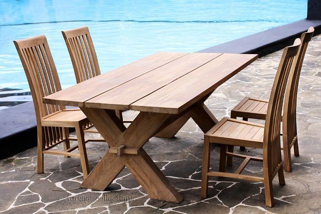 Teak Outdoor Furniture Set @Abigail Phillips Regan Truax://www.forsoer.com/portfolio/fs-5003