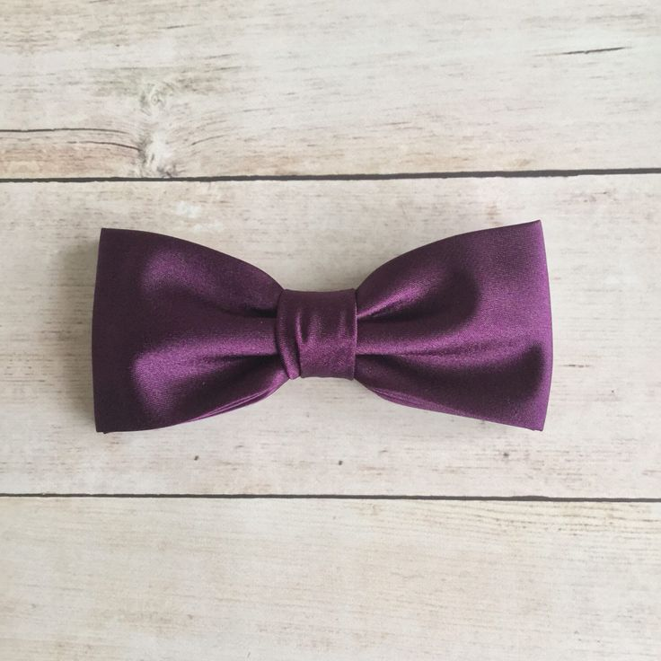 Eggplant Purple Bow Tie, Mens Bow Tie, Solid Satin Bow Tie, Bow Tie for Wedding, Plain Bowtie, Baby Boy Bow Tie, Baby bowtie, Kid Bow Tie by GloiberryBowtie on Etsy https://www.etsy.com/uk/listing/518074527/eggplant-purple-bow-tie-mens-bow-tie