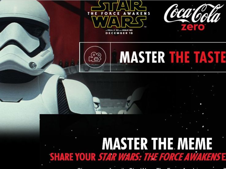 Enter the Coca-Cola Zero Master The Taste Sweepstakes for a chance to win 1 of 2 2-night trips for two to Las Vegas, NV to attend a Star Wars in Concert: Experience the Force!