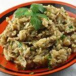 Fresh Mushroom Rice Pilaf
