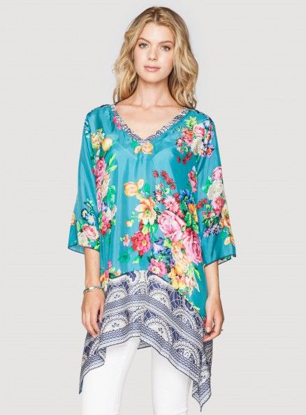 nice silk tunic for warm days and hot nights