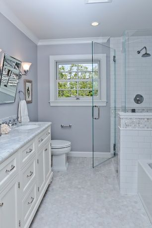 Traditional Full Bathroom With Subway 6 Quot X 3 Quot Tile In