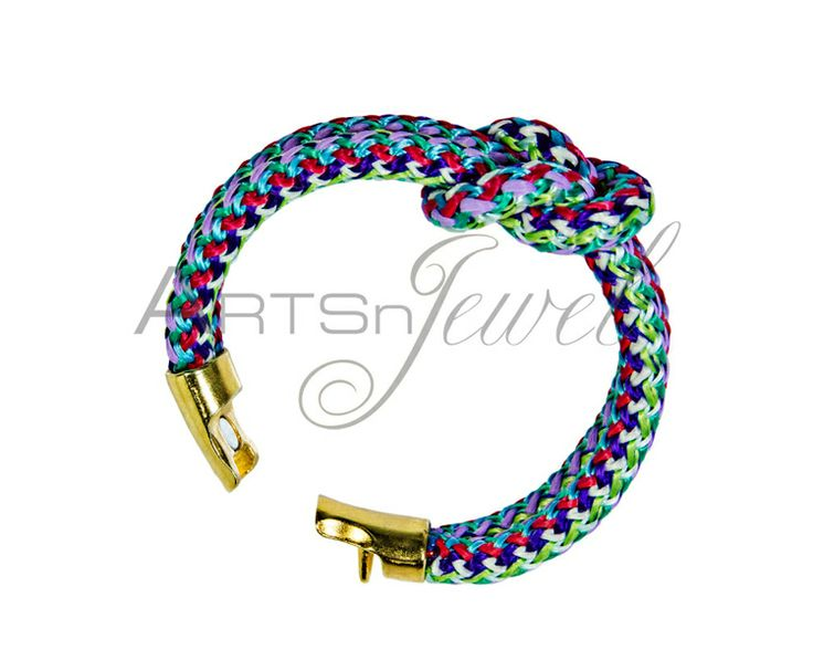 Handmade bracelet with colorful climbing rope from Arts n' Jewel by DaWanda.com. €12