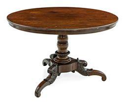 Sub 6 lote 1396 mesa de comedor circular de estilo - Mesas con estilo ...