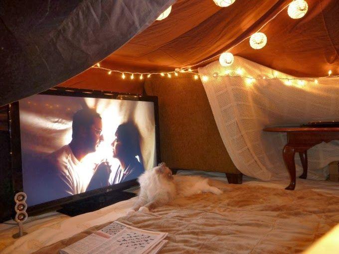 Date night idea. Indoor tent. Why not?
