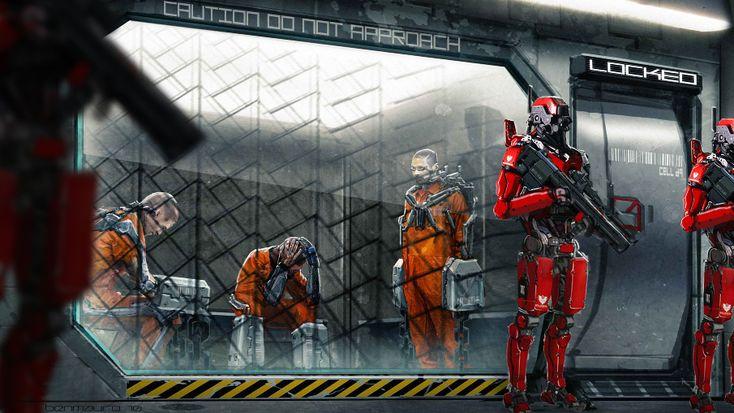Image result for sci-fi prison
