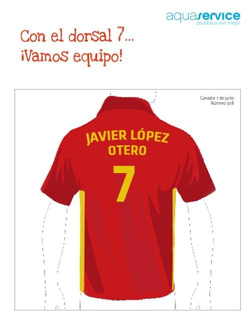¡¡¡Nuestro séptimo jugador!!!  Javier acaba de ganar su polo exclusivo. Enhorabuena.   Participa aquí: https://apps.facebook.com/easypromos/promotions/38273?fb_page_id=374086702874: More, By, Eventos Aquaservice, Of Spain, Our, Goal, Ganador Por