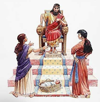 Finalmente, Salomão falou: 'Não matem o menino! Dêem-no à primeira mulher. Ela é a mãe dele.' Salomão sabia que a verdadeira mãe amava tanto o bebê, que estava disposta a dá-lo à outra mulher, para que não fosse morto. Quando o povo soube como Salomão resolveu o problema, alegrou-se de ter um rei tão sábio.Para saber mais leia:1 Reis 3.