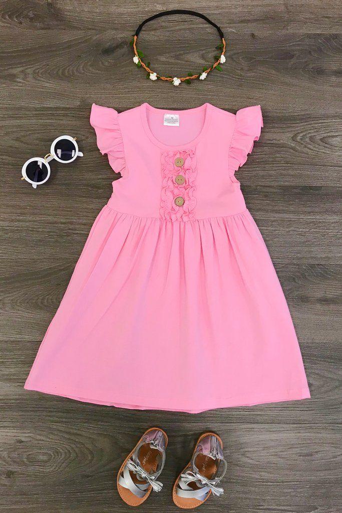 Lacie Pink Ruffle Dress