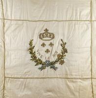 Beau drapeau de la Garde nationale du Mans, Guerre de Vendée, Révolution et Royauté at Osenat