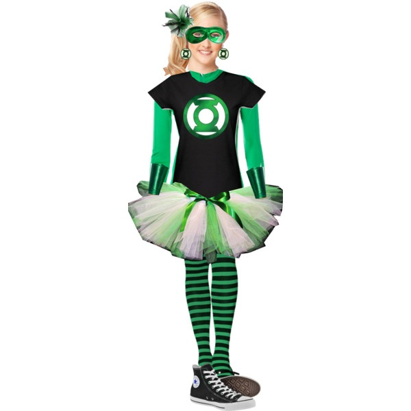 """Asha's Green Lantern Costume"" by ashaoc on Polyvore                                                                                                                                                                                 More"