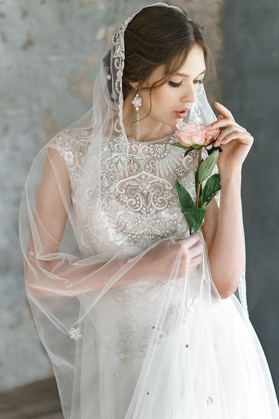 4826b3f2c66 ANIMAISA  Embroidered wedding dress Delicate lace tulle wedding dress
