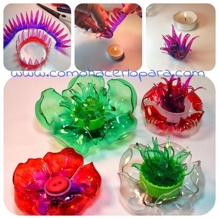 flores con botellas de plastico - Google'da Ara
