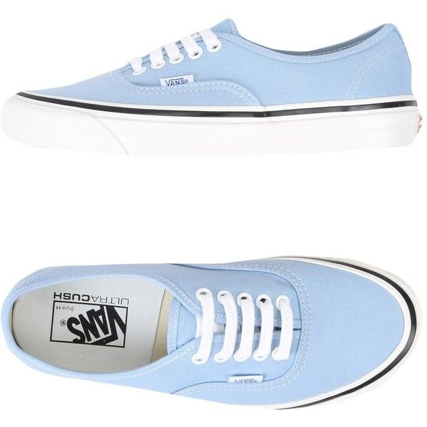 Vans Low-tops & Sneakers ($90) ❤ liked on Polyvore featuring shoes, sneakers, sky blue, vans shoes, low profile shoes, round toe sneakers, flat sneakers and round toe shoes