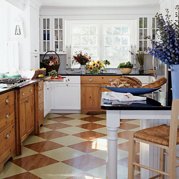 Cottage Kitchen Flooring Continued: 25 Best Painted Wood Floors Images On Pinterest