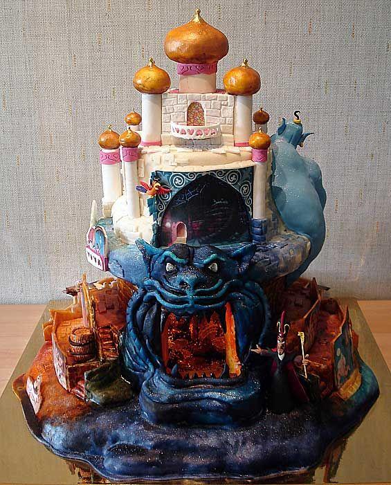 Aladdin Cake (Back Side) made by Art Cake