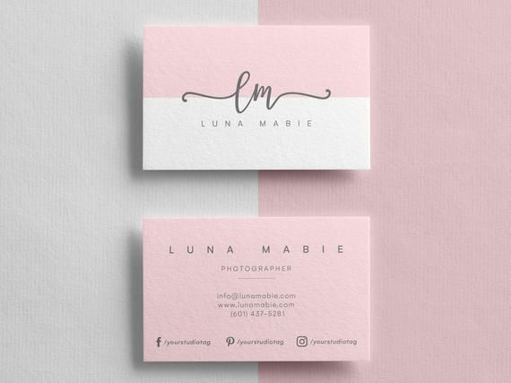 Business Card Template Instant Download Custom Business Card Etsy Printable Business Cards Custom Business Cards Free Business Card Templates