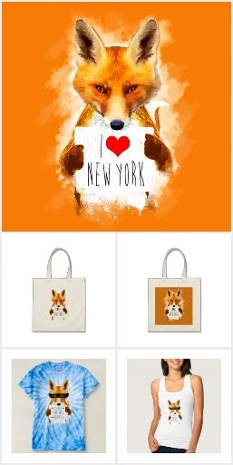 Fox in the city design series by Andras Balogh